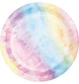 "creative converting Tie Dye 7"" Plates - 8ct."