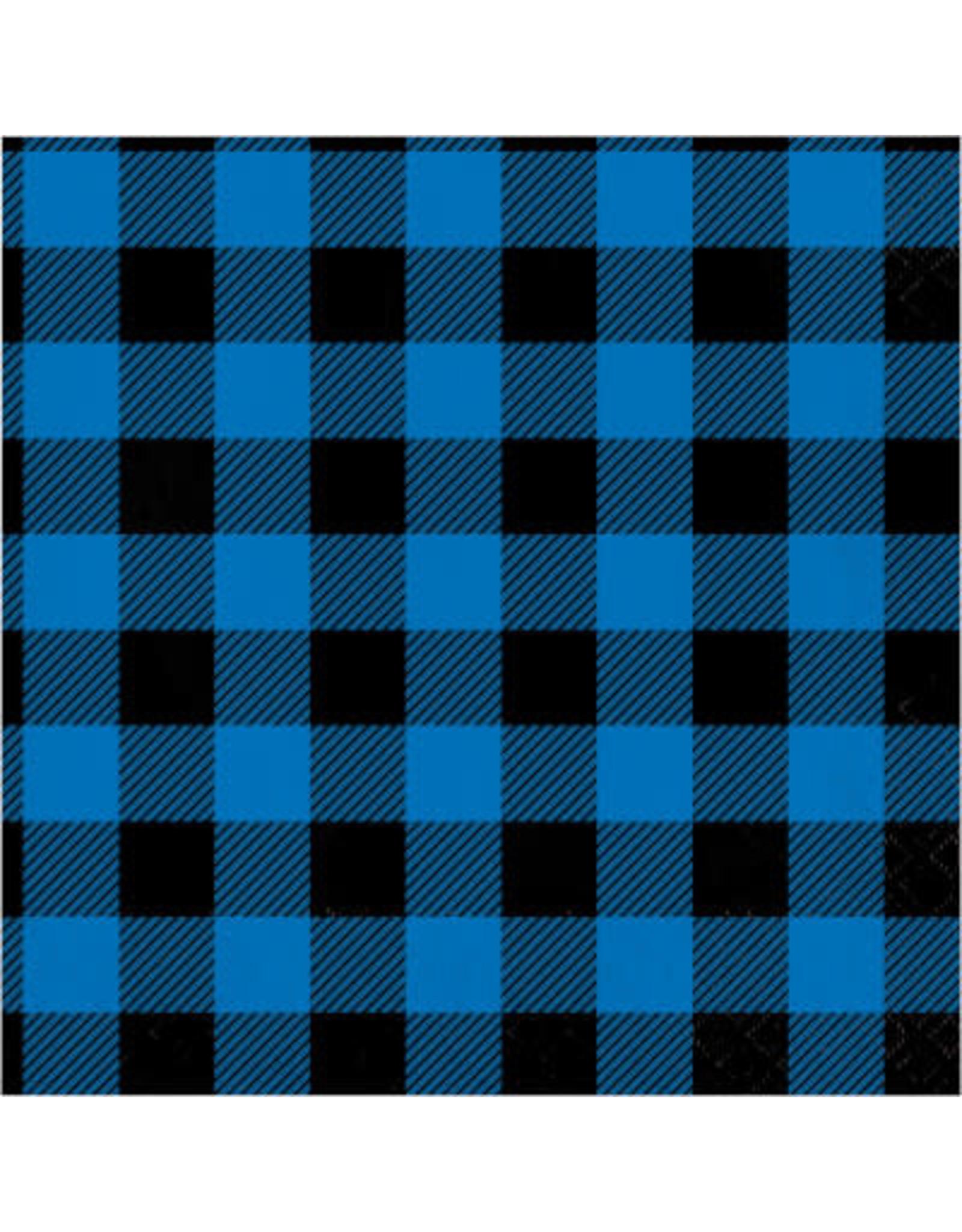 creative converting Blue & Black Buffalo Plaid Lun. Napkins - 16ct.