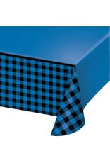 creative converting Blue & Black Buffalo Plaid Tablecover