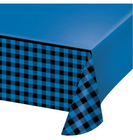 creative converting Blue & Black Buffalo Plaid Tablecover