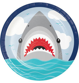 "creative converting Shark Party 9"" Plates - 8ct."