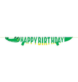 creative converting Alligator Party Shaped Banner - 6ft.