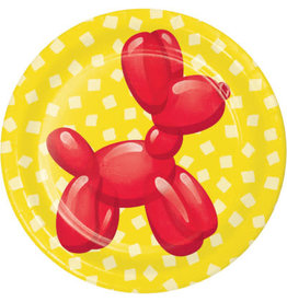 "creative converting Party Balloon Animals  7"" Plates - 8ct."