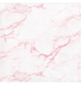 creative converting Pink Marble Bev. Napkins - 16ct.
