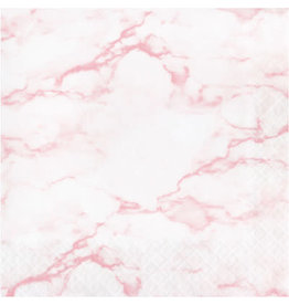 creative converting Pink Marble Lun. Napkins - 16ct.