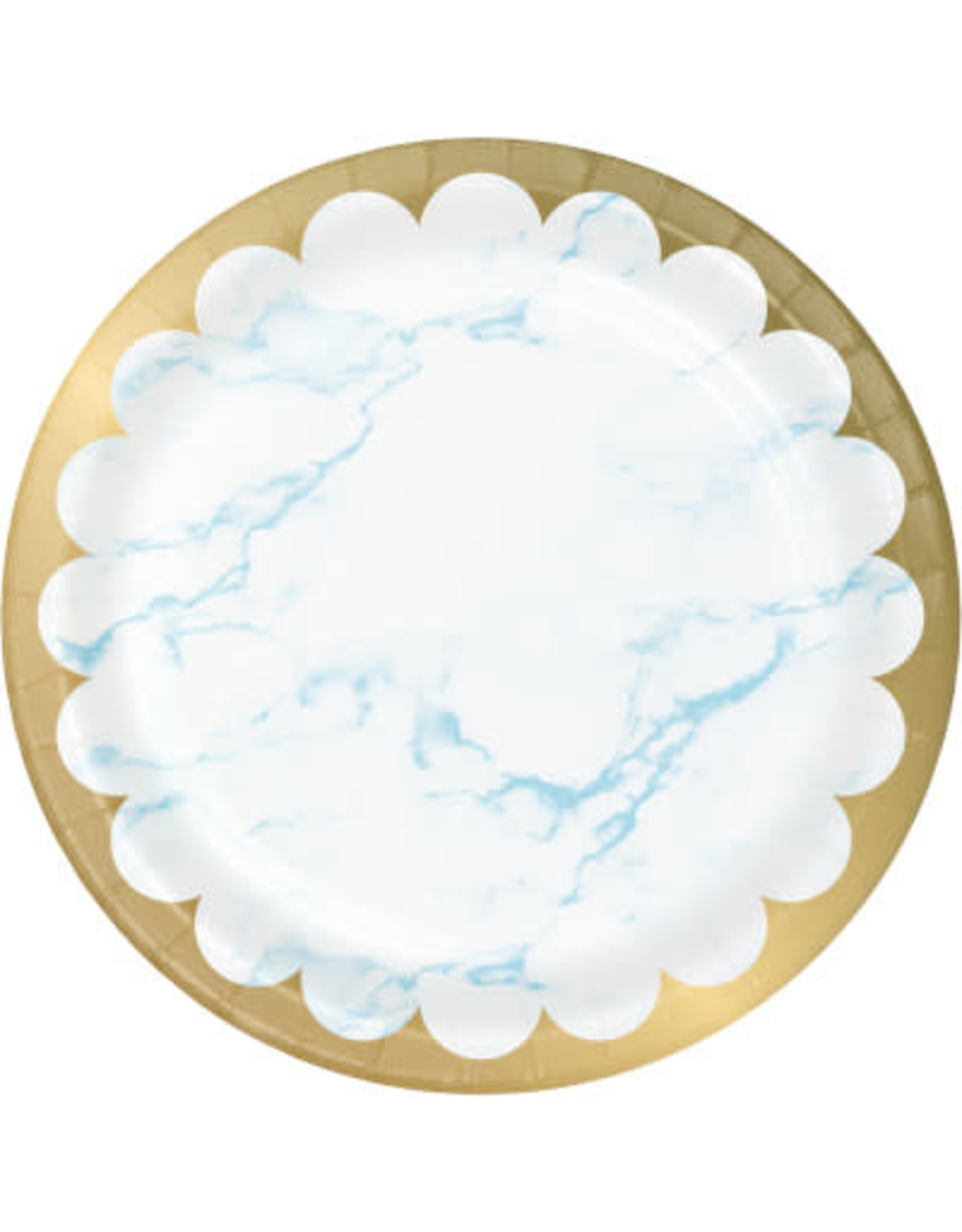 "creative converting Blue Marble 9"" Plates - 8ct."