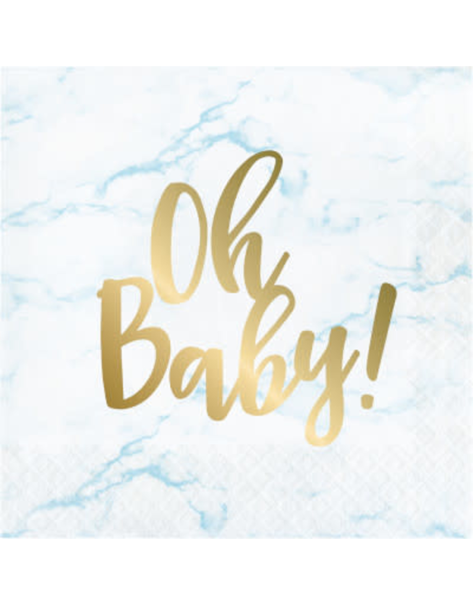 creative converting Blue Marble 'Oh Baby' Lun. Napkins - 16ct.