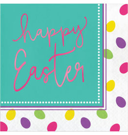 creative converting Easter Eggs Foil Lun. Napkins - 16ct.