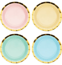 "PPART Pastel Celebrations 7"" Plates - 8ct."
