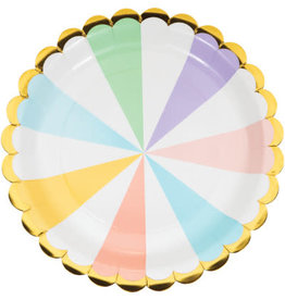 "PPART Pastel Celebrations 9"" Plates - 8ct."