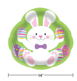 """creative converting Bunny 14in Serving Tray - 14"""""""