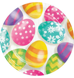 """creative converting Easter Eggs 7"""" Plates - 8ct."""