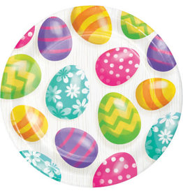 """creative converting Easter Eggs 9"""" Plates - 16ct."""