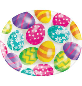 """creative converting Easter Eggs 10"""" Platters - 8ct."""