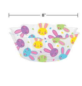creative converting Colorful Bunnies Fluted  Bowl