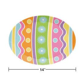"""creative converting Easter Egg Shaped 14"""" Tray - 1ct."""