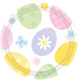 "Amscan Eggstravaganza 7"" Plates - 8ct."
