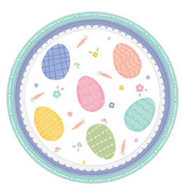 """Amscan Pretty Pastel Easter 7"""" Plates - 8ct."""