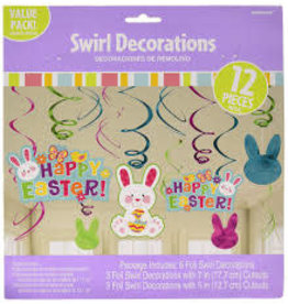 Amscan Happy Easter Swirls - 12ct.