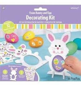 Amscan Foam Bunny And Egg Decorating Kit