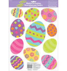 Amscan Glitter Easter Eggs Window Clings - 11ct.