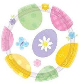 "Amscan Eggstravaganza 9"" Plates - 8ct."