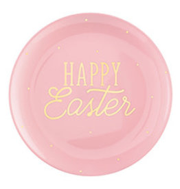 """Amscan Pink Happy Easter Tray - 14"""""""