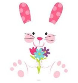 Amscan Easter Bunny w/ Flowers Cutout - 1ct.