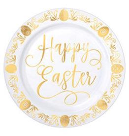 """Amscan Happy Easter Premium Plastic 7.5"""" Plates - 20ct."""