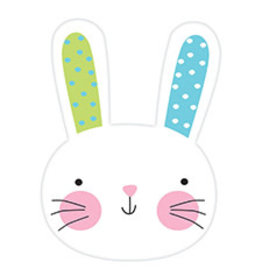 """Amscan Hello Bunny 8"""" Cutout - 1ct."""