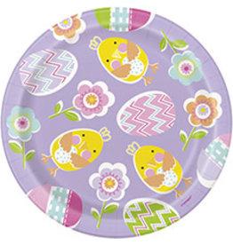 """unique Lilac Easter 7"""" Plates - 8ct."""