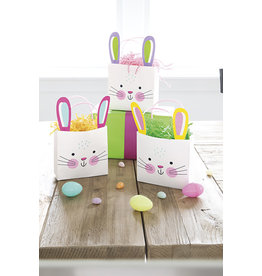 unique Easter Bunny Handle Bags - 3ct.