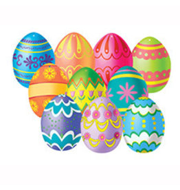 Beistle Mini Easter Egg Cutouts - 10ct