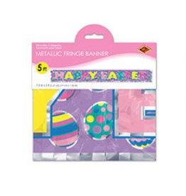 Beistle Metallic Happy Easter Fringe Banner - 5ft.
