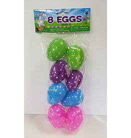 "forum Easter 2"" Dot Print Eggs - 8ct."
