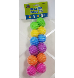 "us toy Easter 2.5"" Plastic Eggs - 12ct."