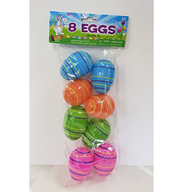 """forum Easter 2"""" Striped Eggs - 8ct."""