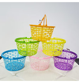 "fun express Plastic 5"" Easter Baskets - Asst. Colors"