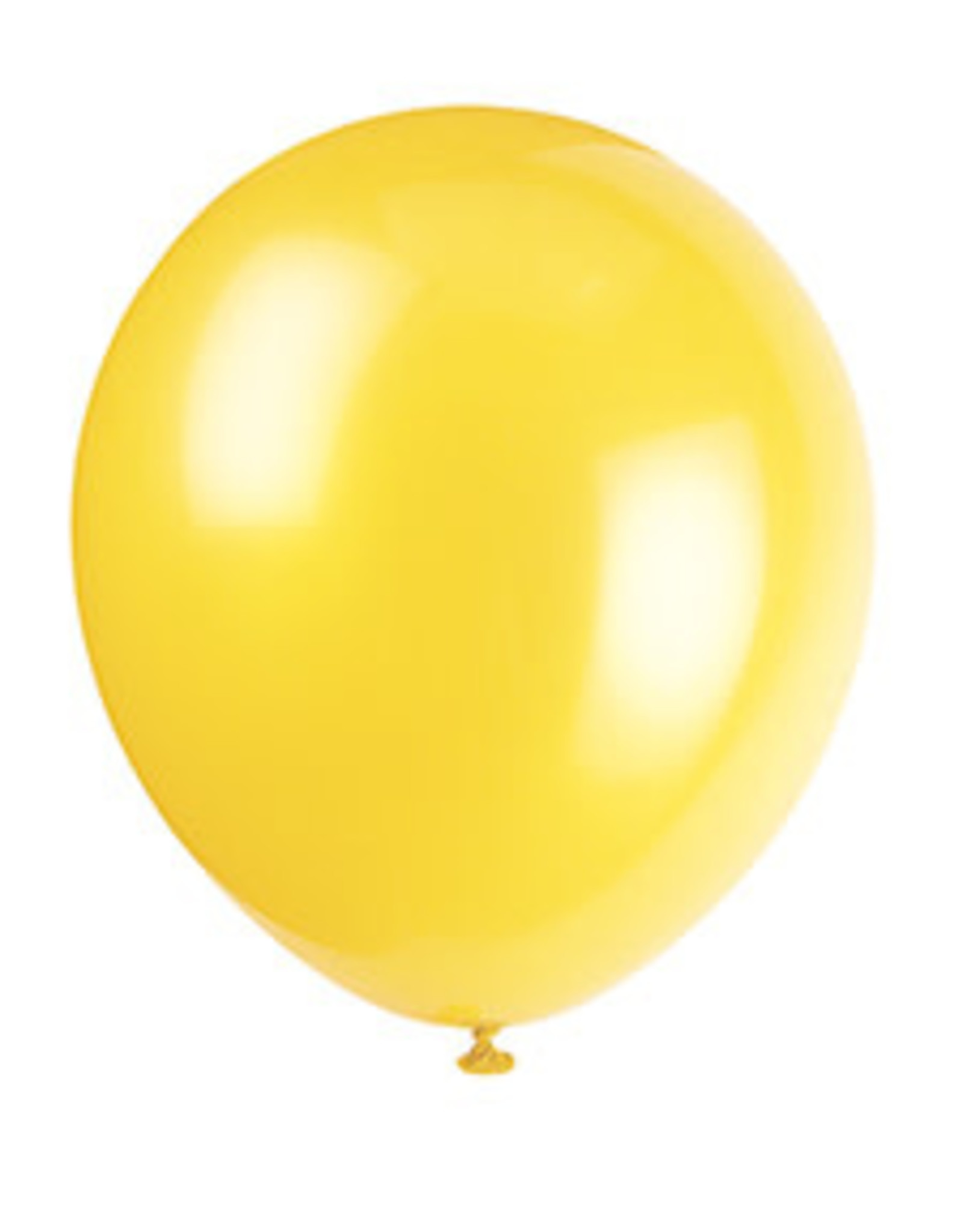 unique 12'' Sunburst Yellow Latex Balloons - 10ct.