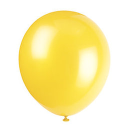 unique 12'' Sunburst Yellow Latex Balloons - 10ct.