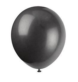 unique 12'' Jet Black Balloons - 10ct.