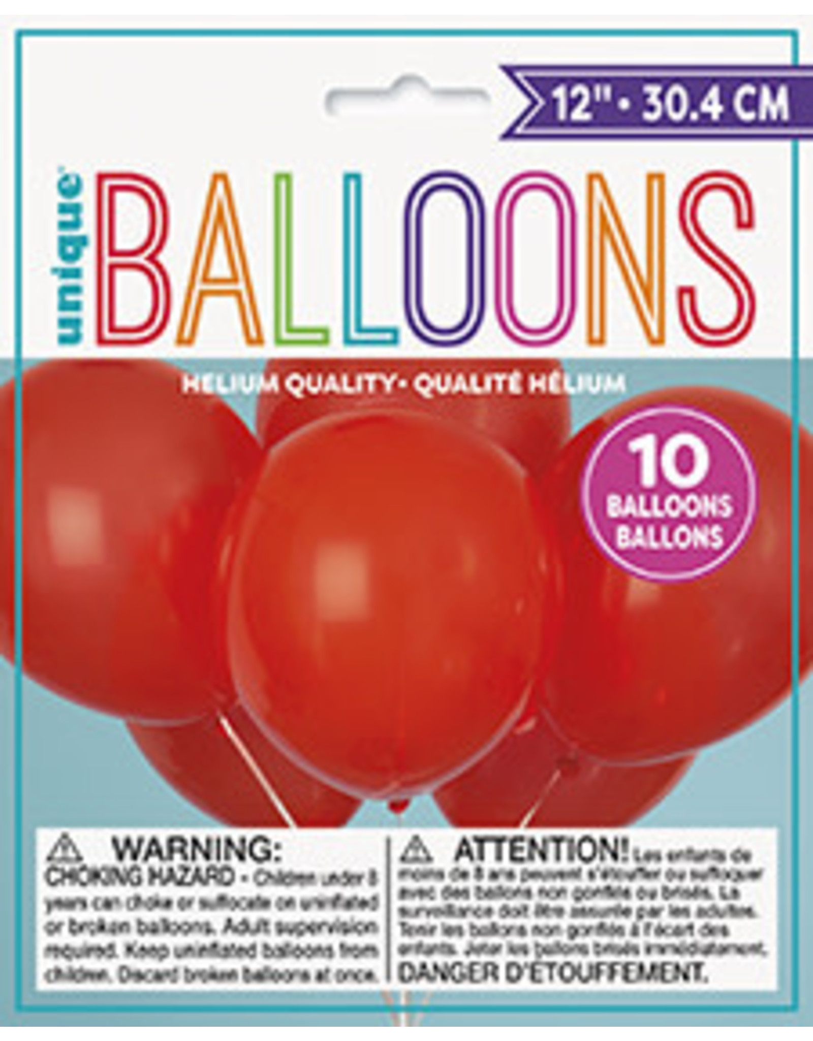 unique 12'' Ruby Red Balloons - 10ct.