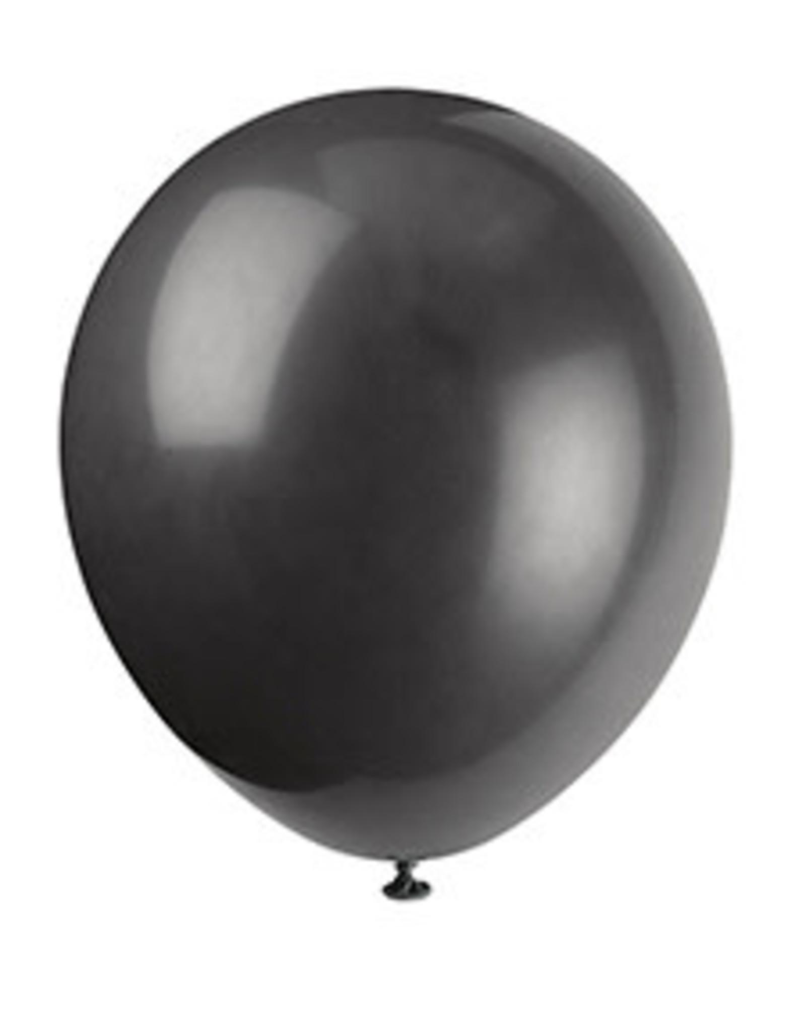 "unique 9"" Black Latex Balloons - 20ct."