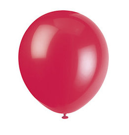 "unique 9"" Ruby Red Latex Balloons - 20ct."