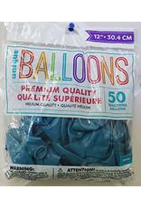 """unique 12"""" Turquoise Premium Latex - 50ct."""
