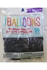 """unique 12"""" Midnight Purple Premium Balloons - 50ct."""