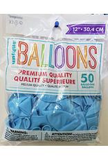 """unique 12"""" Cool Blue Premium Balloons - 50ct."""