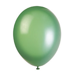 """unique 12"""" Hemlock Green Prem. Balloons - 50ct."""