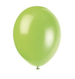 "unique 12"" Neon Lime Premium Balloons - 50ct."