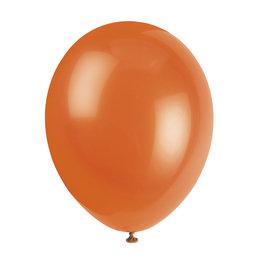"""unique 12"""" Citrus Orange Prem. Balloons - 50ct."""